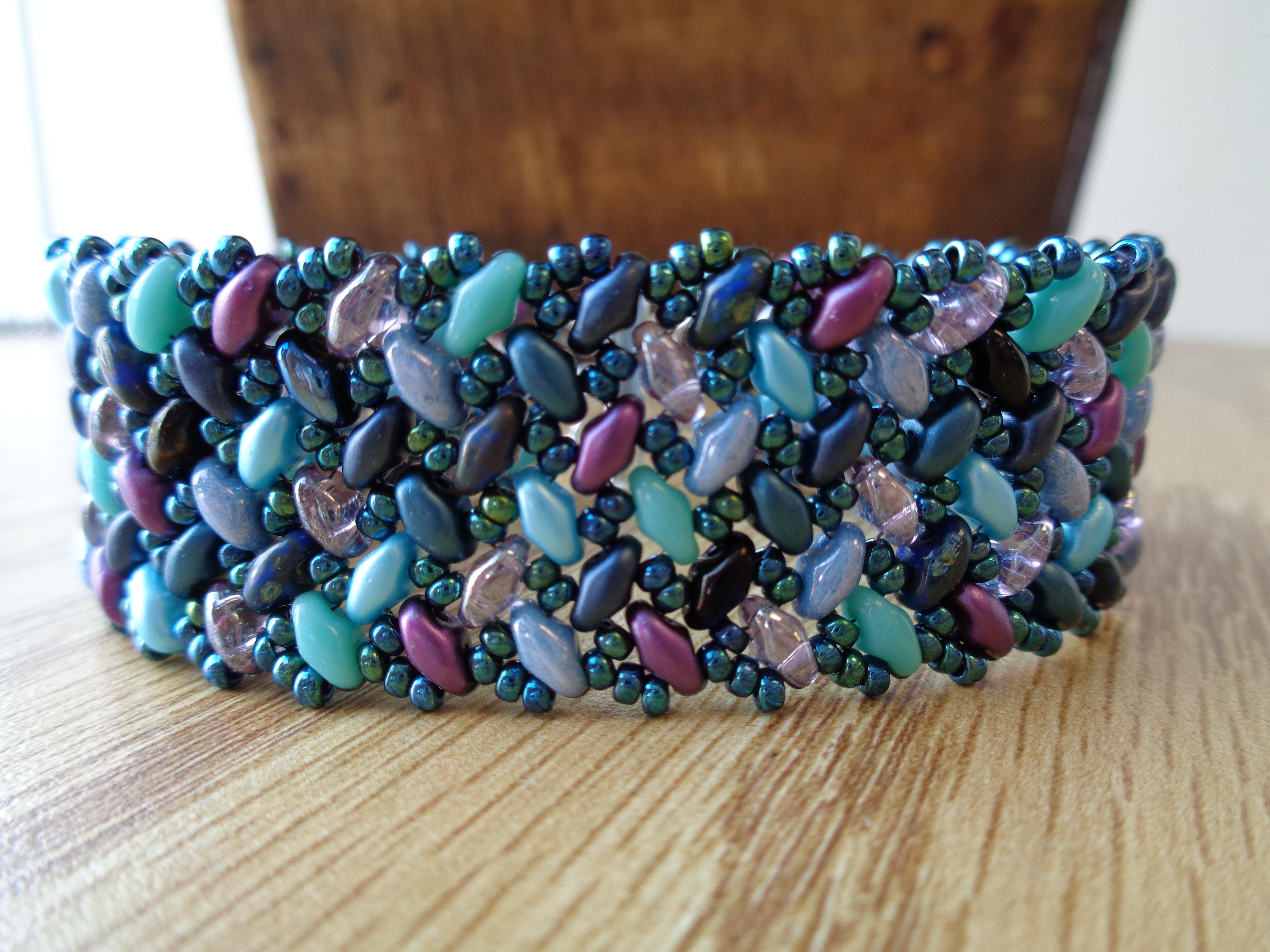 Tweaked Version of SuperDuo Knit Herringbone Bracelet   Wescott Jewelry