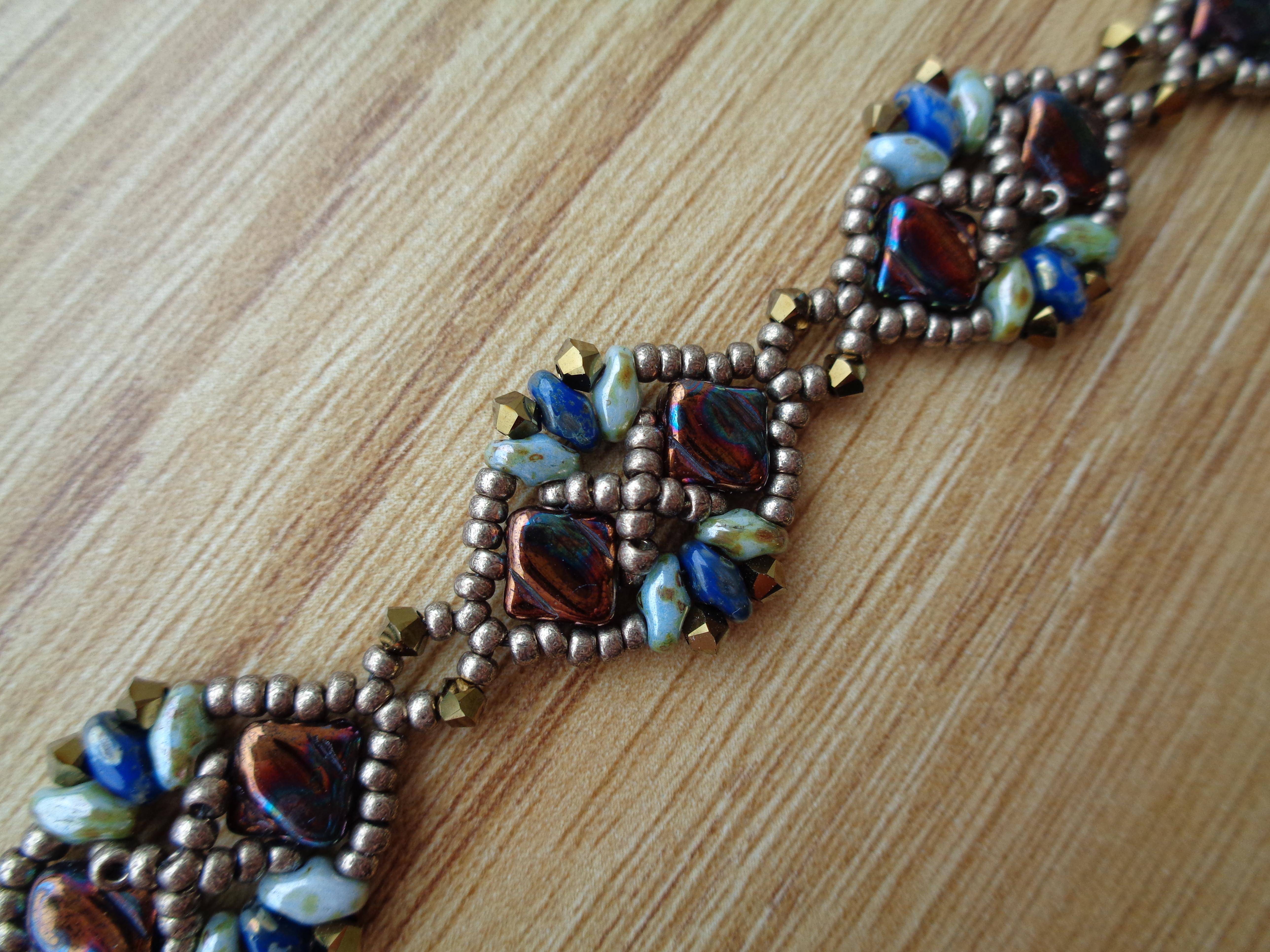 New Design : The Diadem Bracelet with Silky Beads   Wescott Jewelry