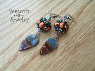 These earrings are full of color and movement, but at two inches long, they are probably too long for some people.